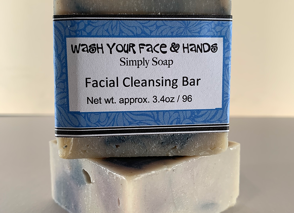 """WASH YOUR FACE AND HANDS""  Facial Cleansing Bar"