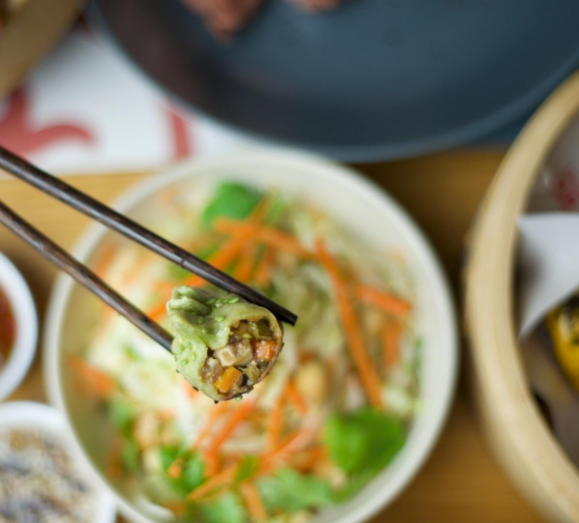 Legumes e tofu (vegan dumpling)
