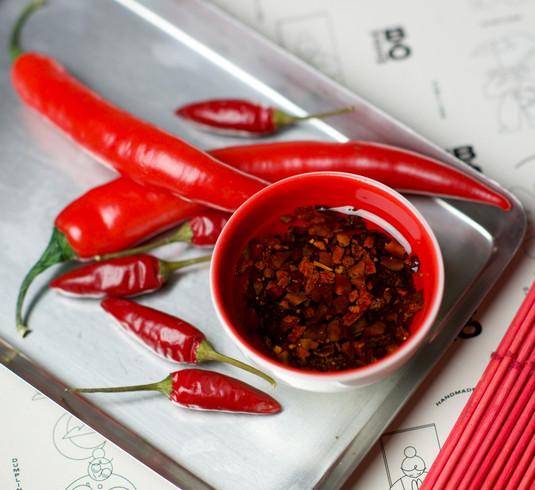 Homemade chilli oil sauce
