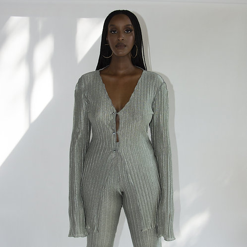 THE PLEATED CARDIGAN