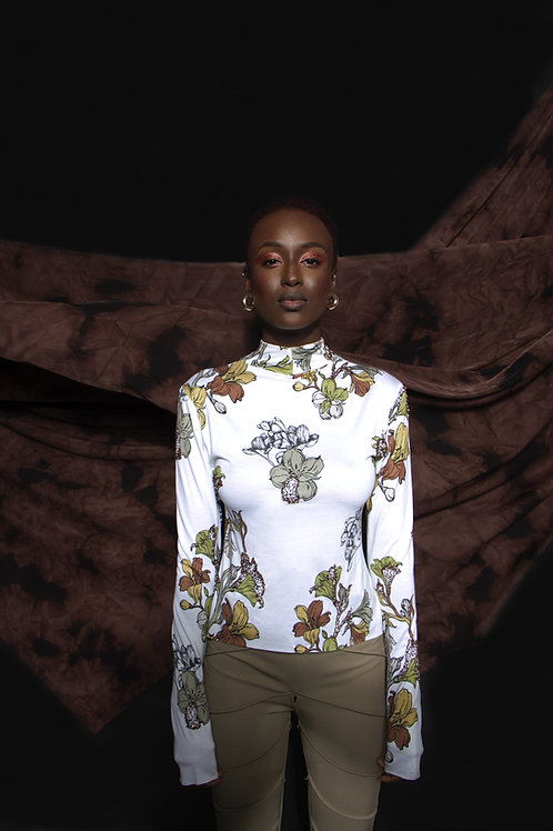 THE FLORAL PERLAGE TOP