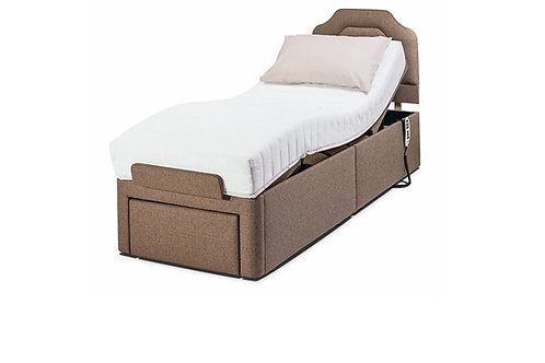2'6″ DORCHESTER HEAD-AND-FOOT ADJUSTABLE BED SHOWN WITH EMILY HEADBOARD