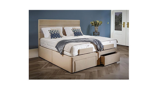 6′ DEVONSHIRE HEAD-AND-FOOT ADJUSTABLE BED SHOWN WITH DEVONSHIRE LYON HEADBOARD