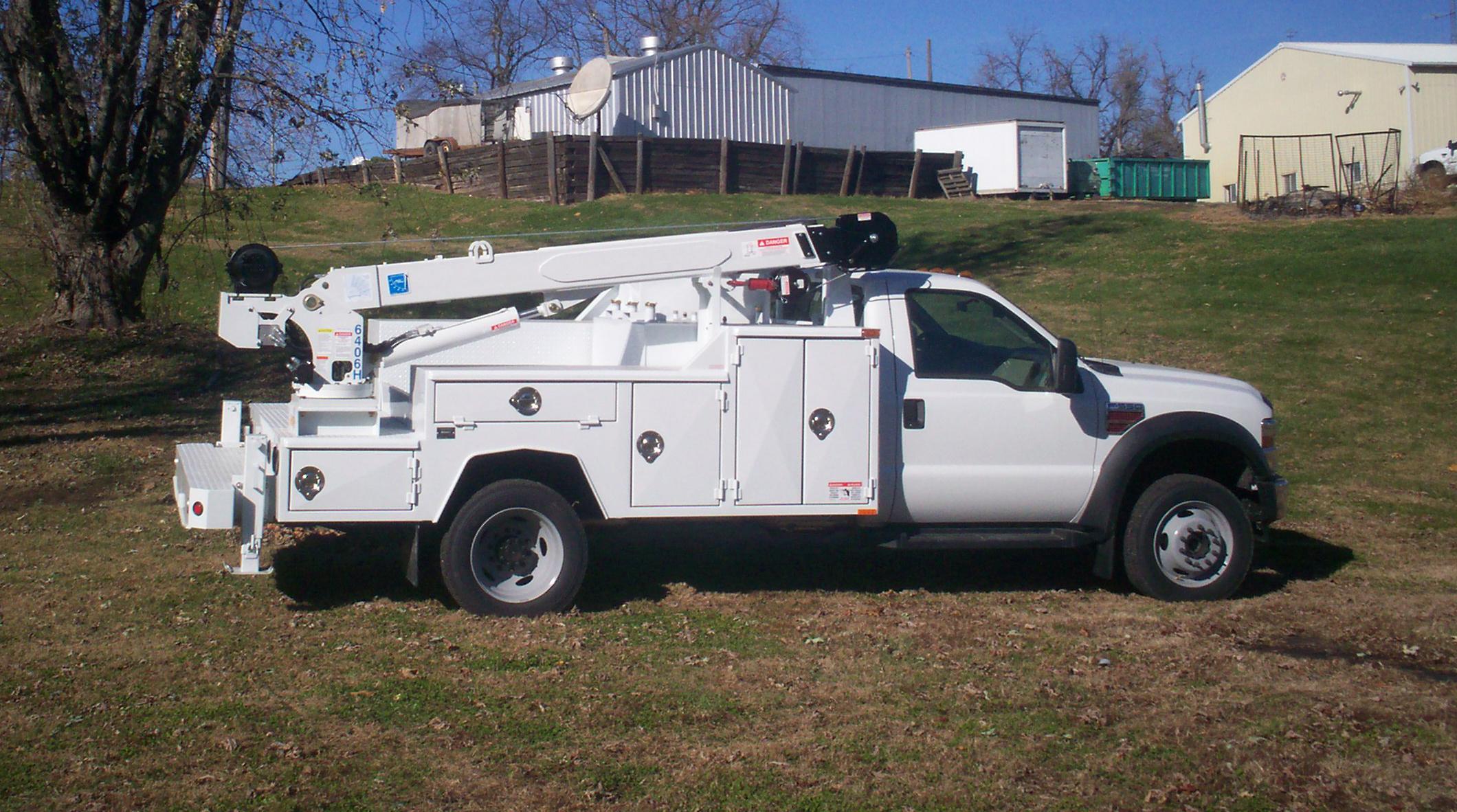 84 cab to axle low profile crane body