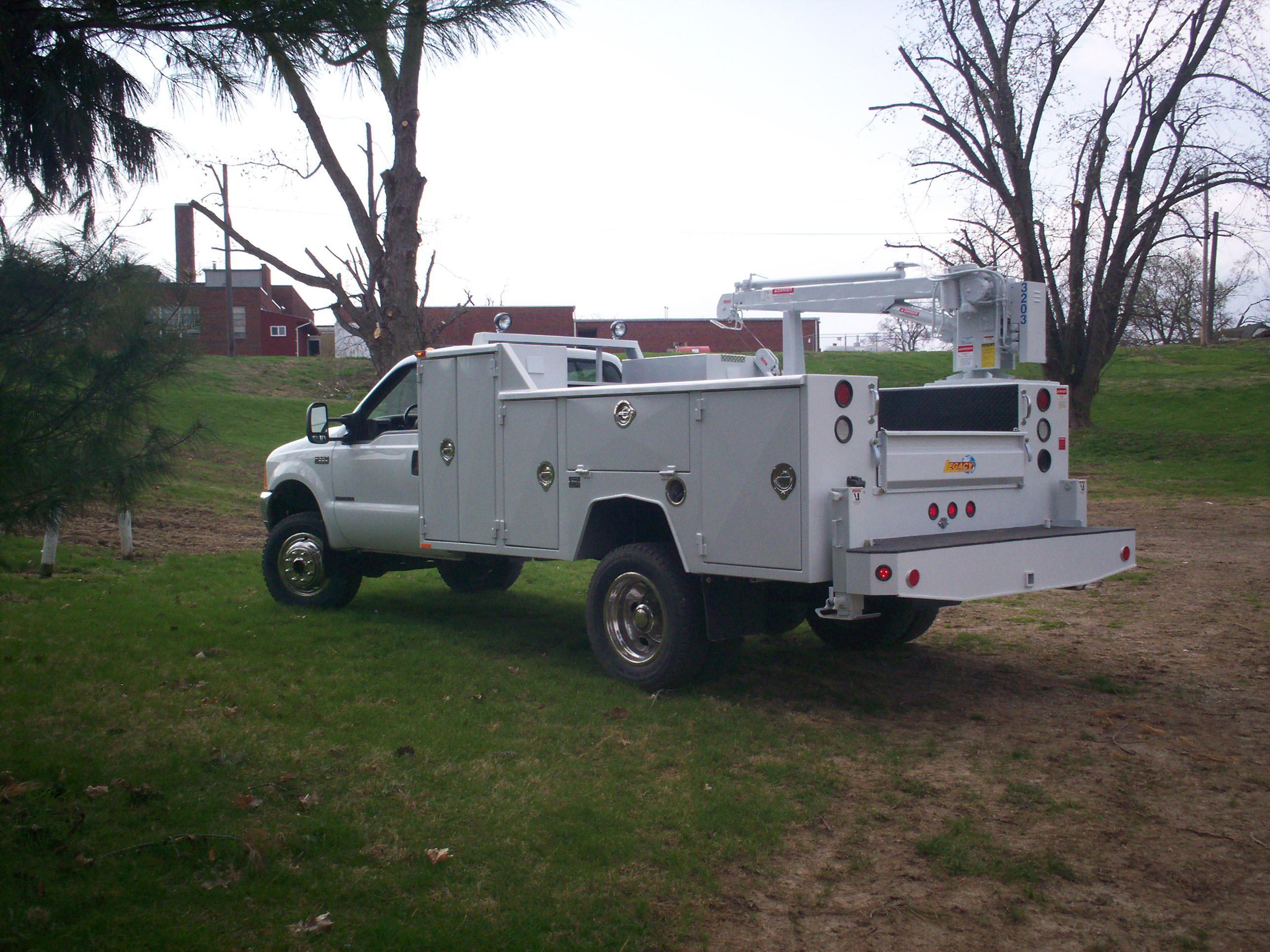 84 inch cab to axle crane body