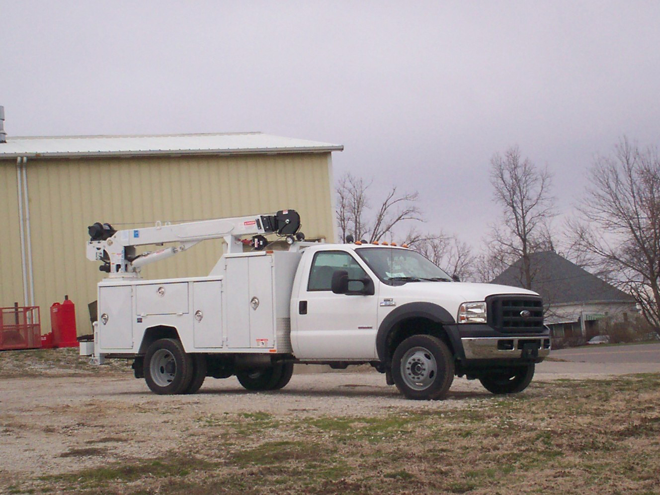 84 cab to axle crane body curb side
