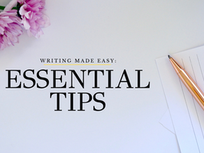 Writing made easy: essential tips.