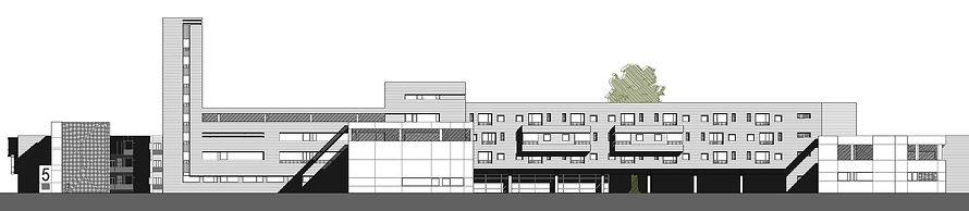 alzado edificio residencial