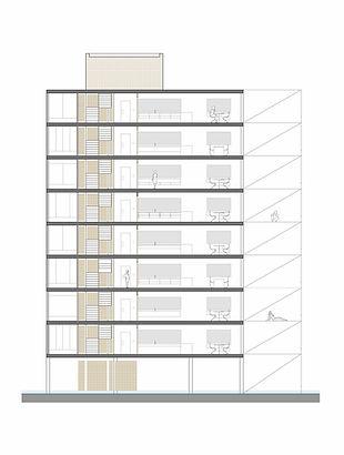 seccion edificio residencial