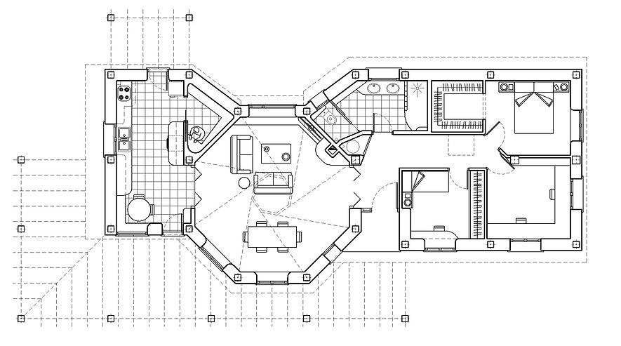 vivienda planta octogonal