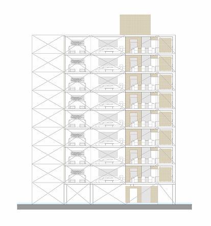 alzado edificio residencal