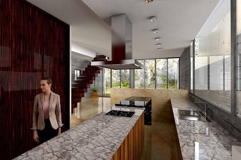 3d interior cocina