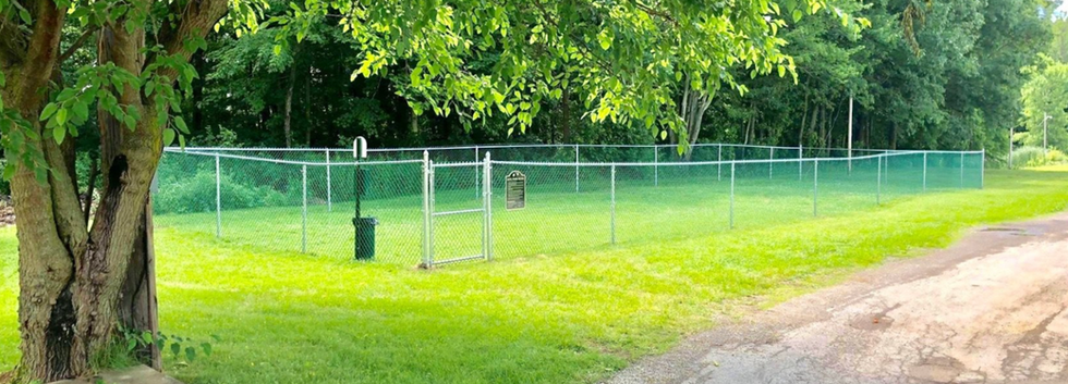 Dog park in Deer Run mobile home park