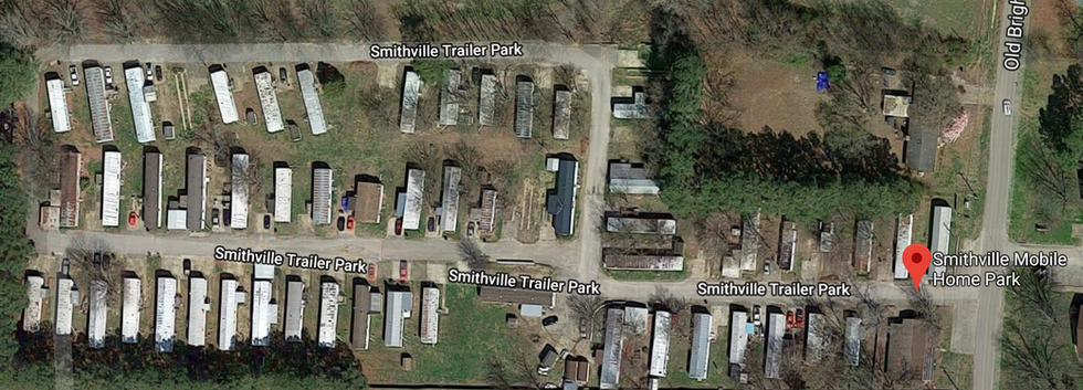 Smithville mobile home park in Covington, TN