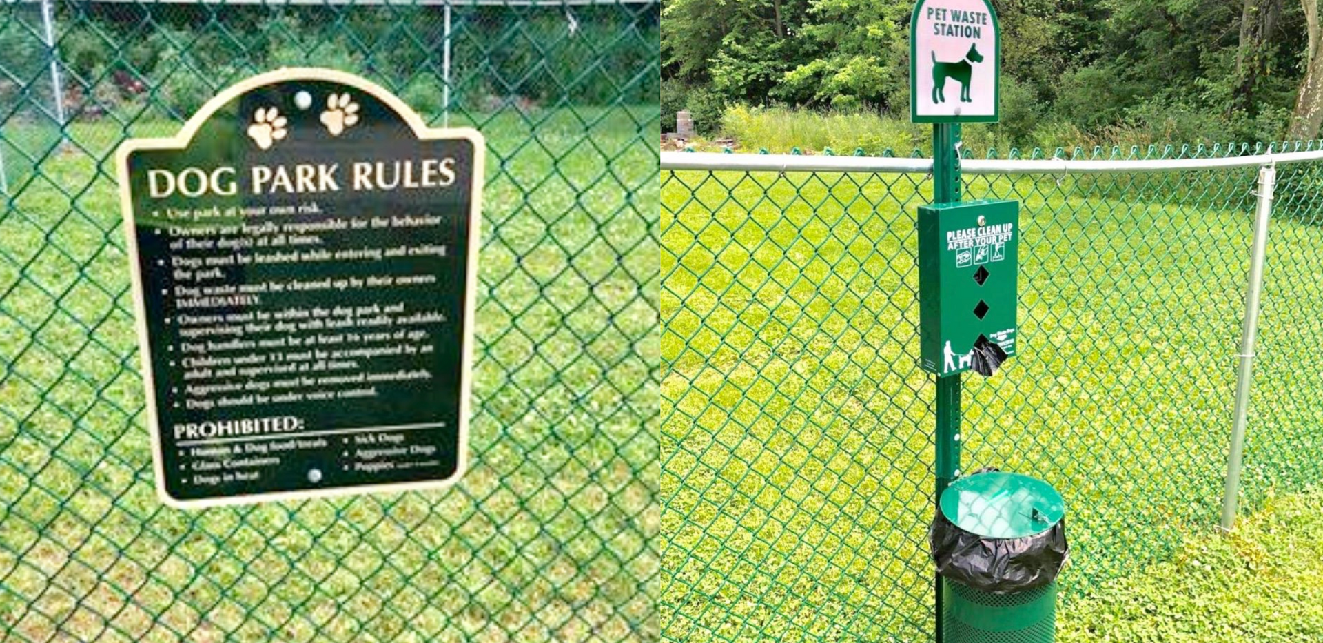Dog Park installed in the Deer Run Mobile Home Park