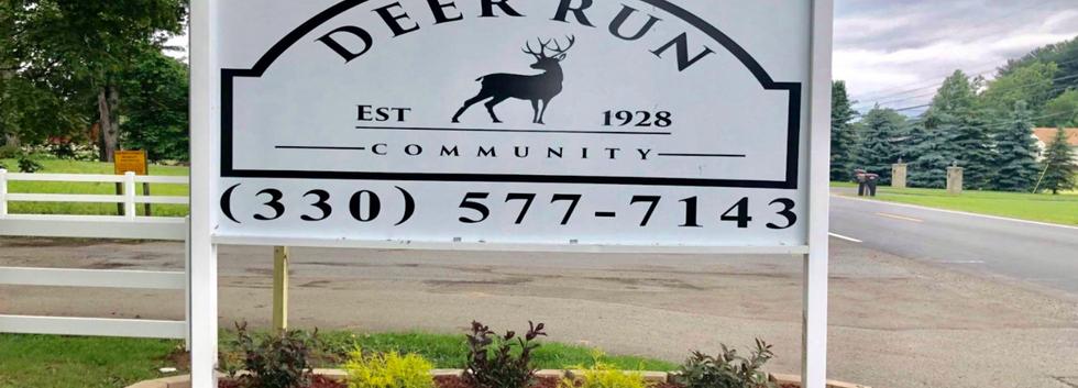 Deer Run mobile home park front sign
