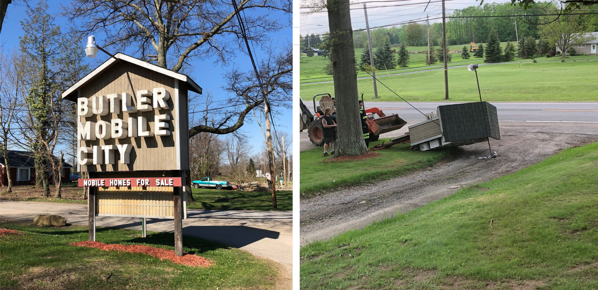 Old signage removed when we rebranded into Deer Run