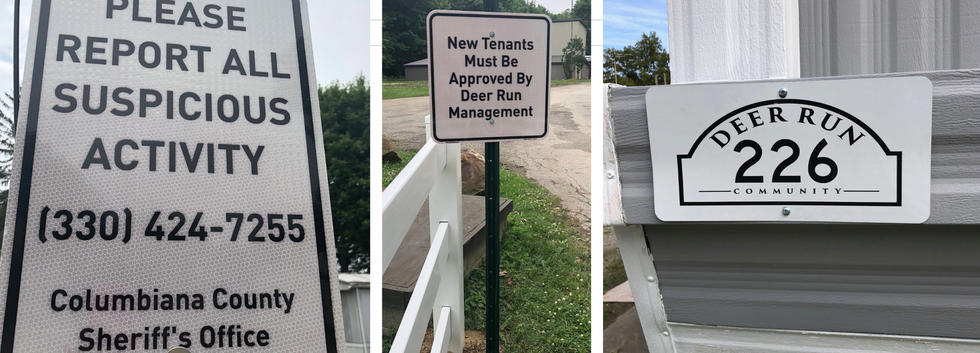 New street signs installed in each mobile home park