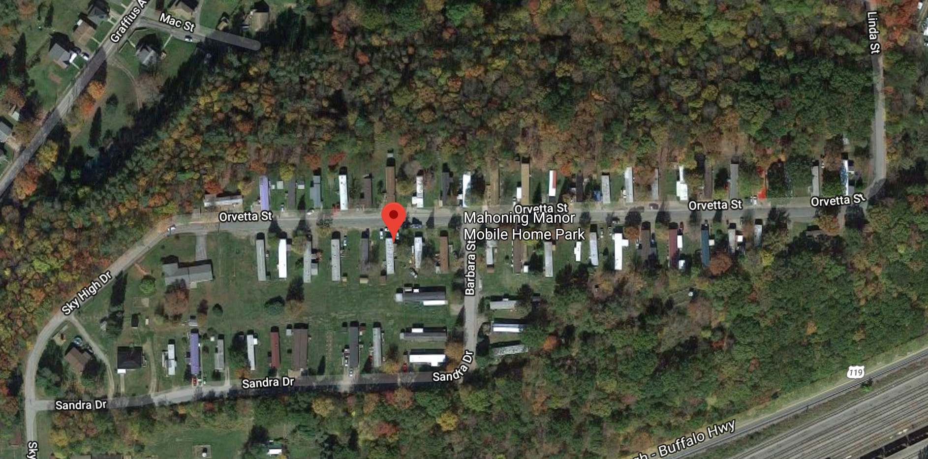 Mahoning manor mobile home park in Punxsutawney, PA