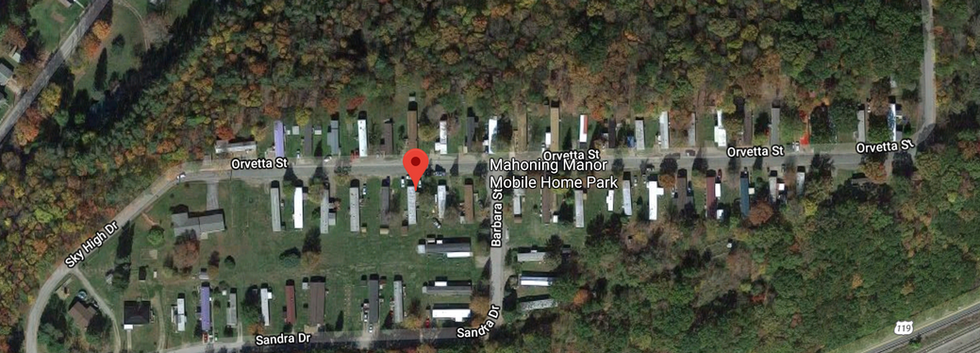 Mahoning manor mobile home park in Punxsutawney, PA