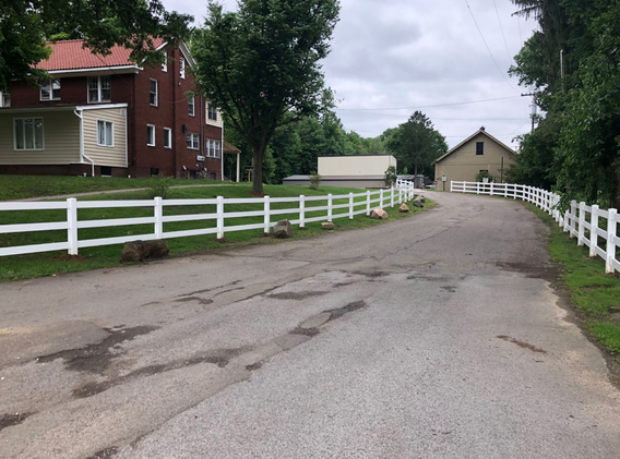 New fencing installed at the Deer Run mobile home park entrance