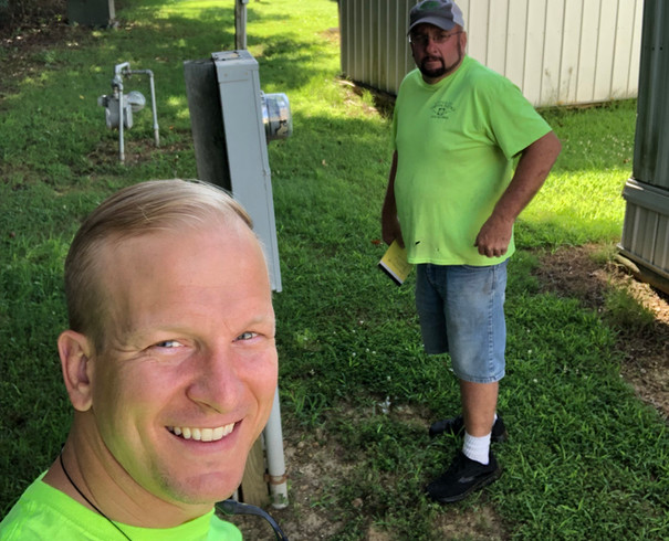 Electrical inspection in a mobile home park in Arkansas