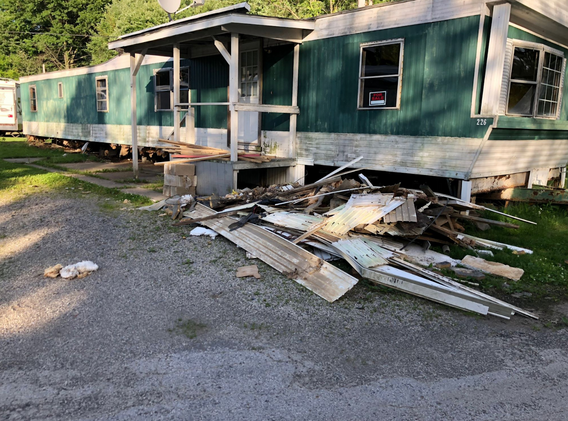 Mobile home rehab just getting started