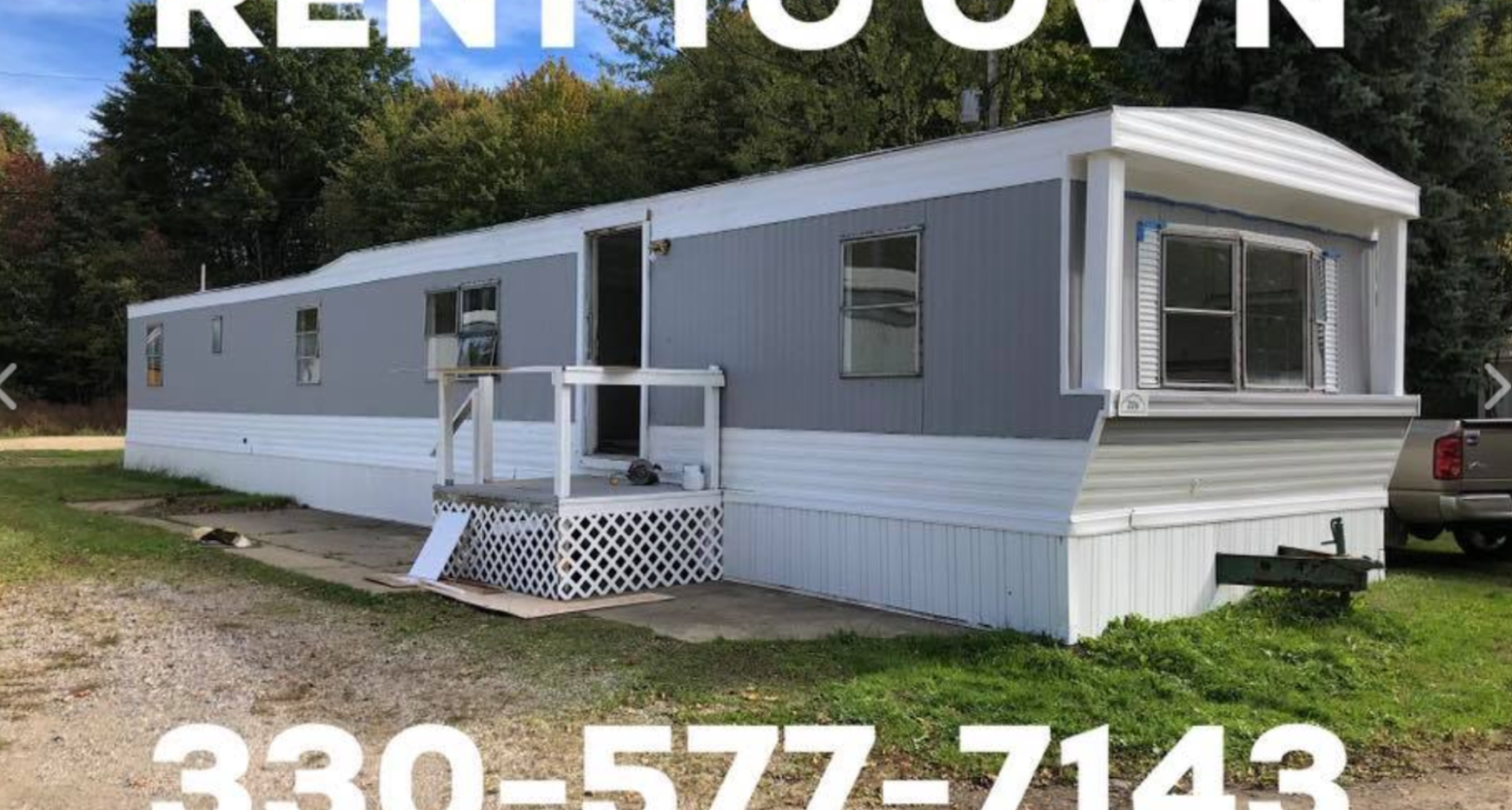 A renovation project in the Deer Run mobile home park