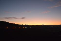 coucher de soleil depuis terrasse