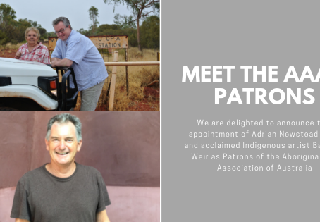 AAAA Names Adrian Newstead, OAM and Acclaimed Indigenous Artist Barbara Weir Patrons
