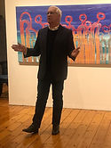 Geoff Henderson with Artist Barbara Weir