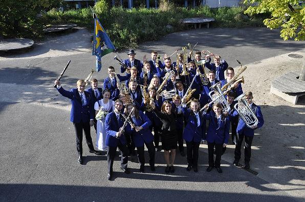 Das Korps der Jugendmusik Heiden nach de