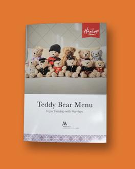 Marriott Park Lane Hamleys Teddy Bear Menu in association with Hamleys
