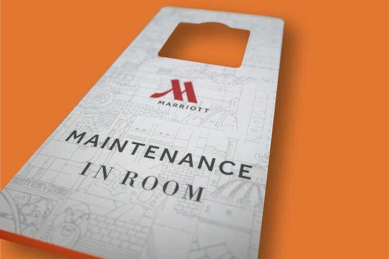 Marriott County Hall – Room Maintenance Door Hanger