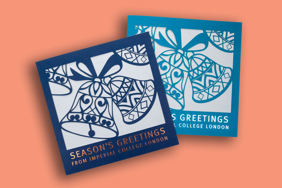Imperial College London – laser cut Christmas Cards