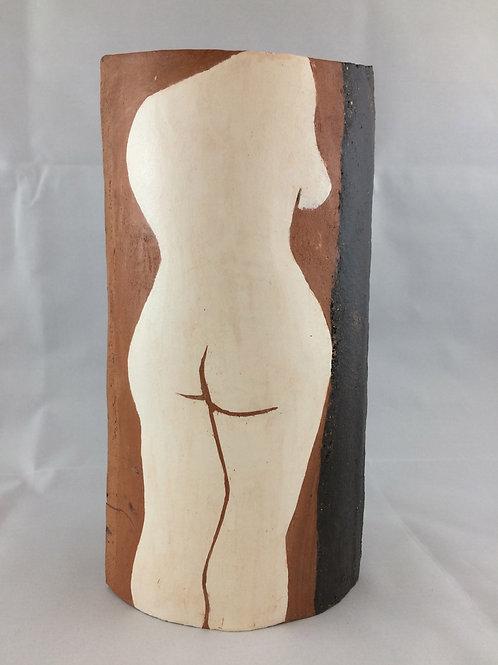 Rear figure -black clay series