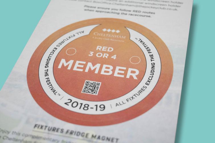 The Jockey Club – Member car park passes with fixture list as an integrated fridge magnet