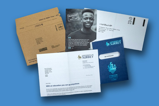 "University of Surrey - ""Passport To The Future"" DM Pack"