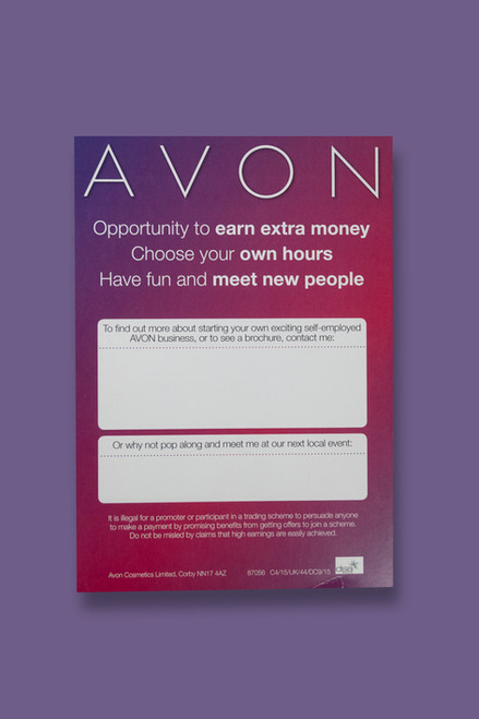 AVON Magic Ticket Event, spine glued booklet