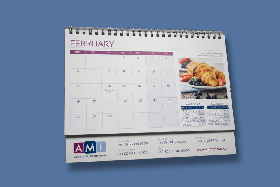 Air Menzies International – Desk Calendar