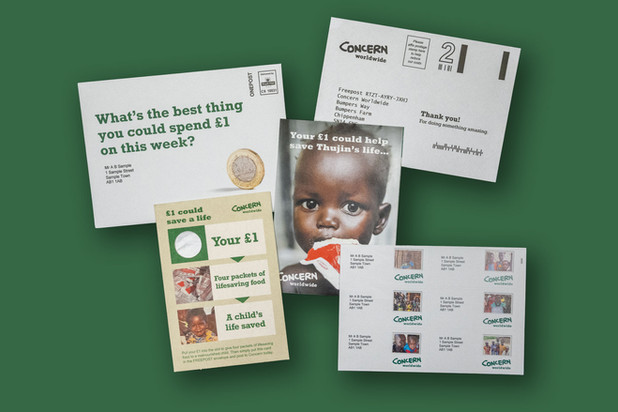 Concern Worldwide £1 Coin Carrier Pack - Dec 2017