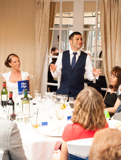 Groom makes a speech at Hampton Court Mitre Hotel