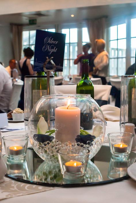 Wedding table decor at Hampton Court Mitre Hotel