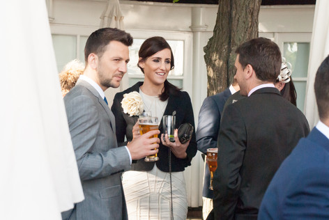 Guests during wedding reception at Hampton Court Mitre Hotel