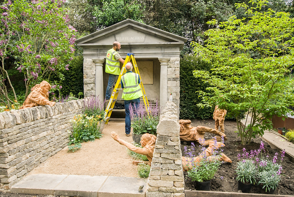 Behind the scenes at Chelsea Flower Show by Georgie Cook