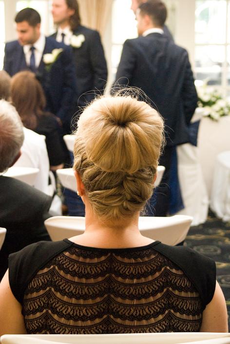 Wedding guests at Hampton Court Mitre Hotel