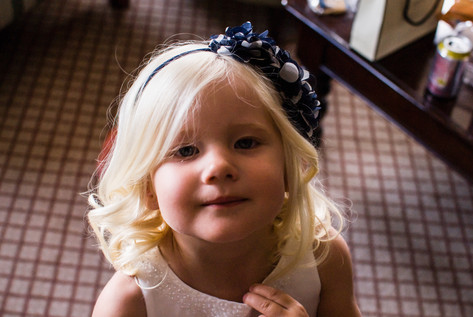 Flowergirl at Hampton Court Mitre Hotel