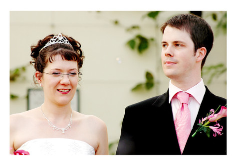 Bride and Groom at Sheffield Botanical Gardens
