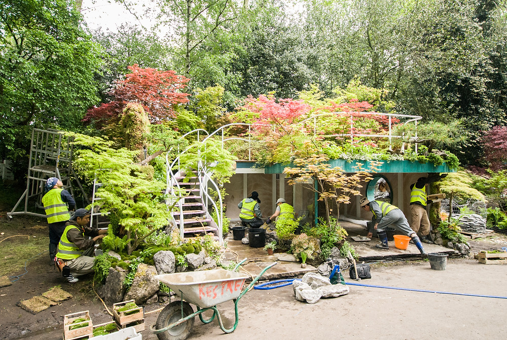 Kazuyuki Ishihara's Senri-Sentei Garage Garden - Behind the scenes at The Chelsea Flower Show (2016) by Georgina Cook
