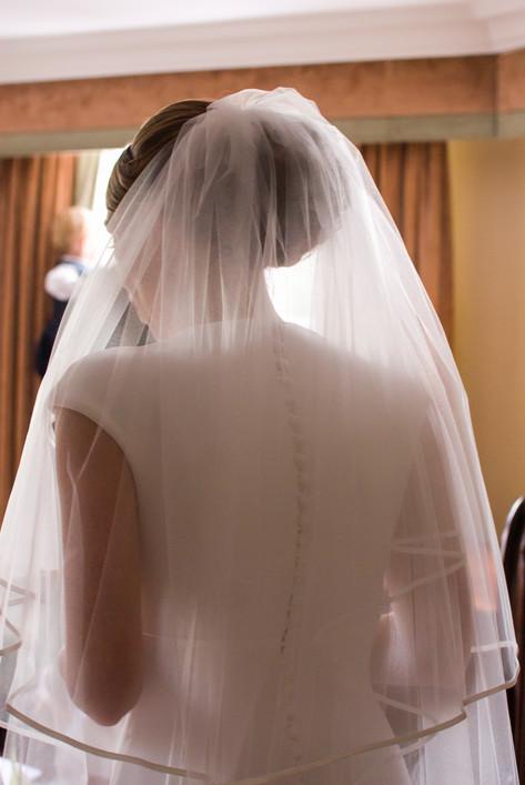 Bridal veil at Hampton Court Mitre Hotel